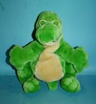 Dakin McGraw Hill Readasaurus Plush Green Dinosaur Puppet Glasses Soft S... - $38.55