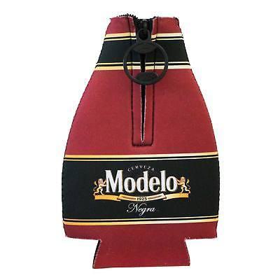 Modelo Negra Zippered Bottle Insulator Brown