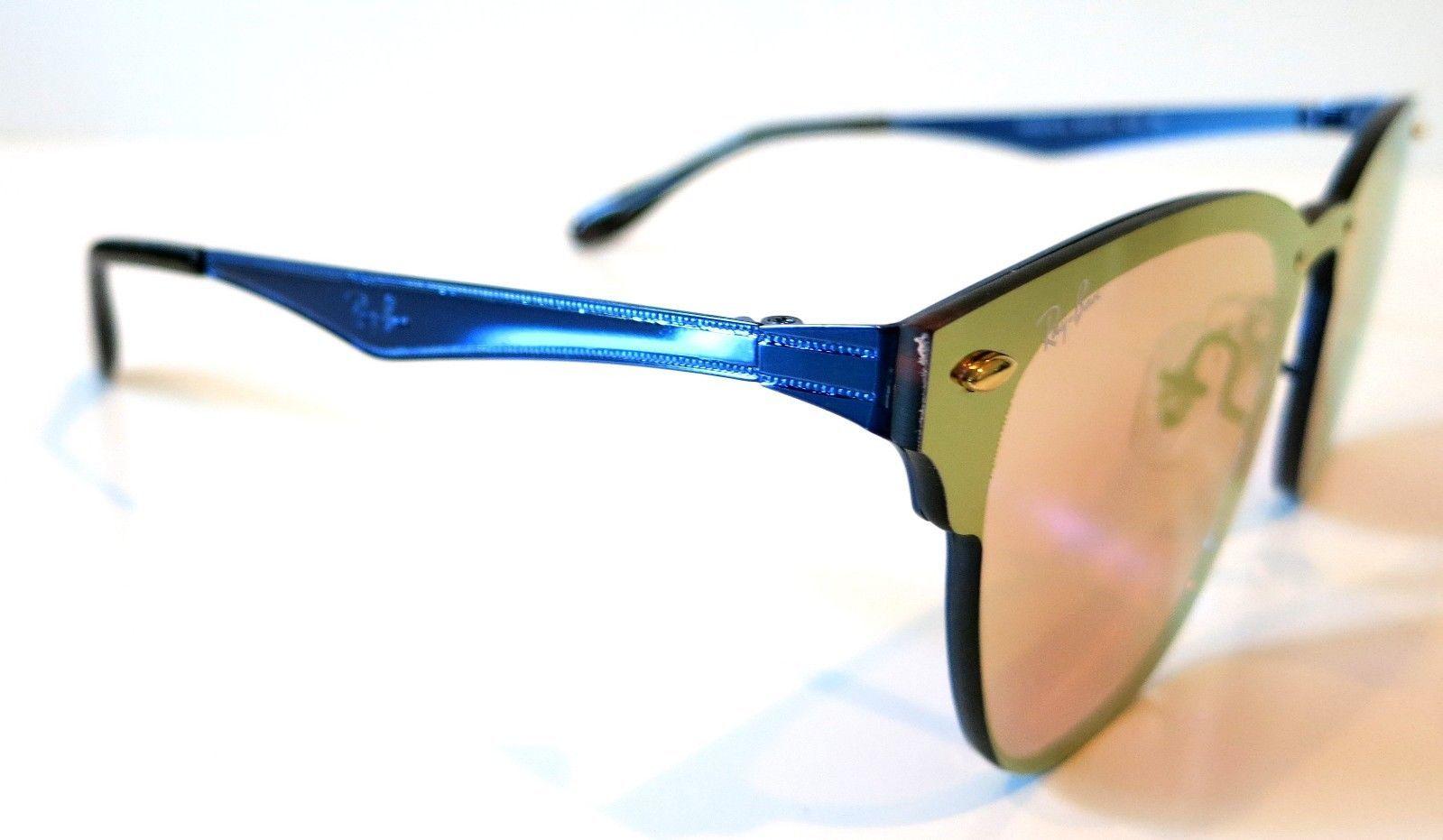 e72087c174 Rayban Blaze Clubmaster sunglasses RB3576N 9037 7J Blue Orange Yellow 3576  Club