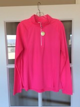 Neon Pink Womens Reflective TopPerformance Quarter Zip Pullover Jacket X... - $12.99