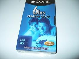 Sony Premium Grade Blank Video Cassette VHS Tape T-120 - NEW SEALED - $1.98