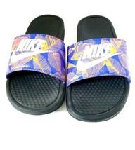 Nike 2016 BENASSI JDI Print Slipper Beach Slippers Sandals Black 631261-014 - $52.04 CAD
