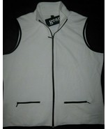 Womens GEAR for Sports Zip Front Pockets Sleeveless Vest White New XXL  ... - $9.85