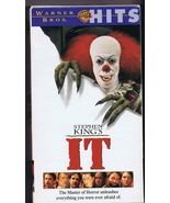 It (1990) VINTAGE VHS Cassette Stephen King Tim Curry Pennywise - $13.99