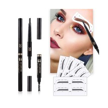 Eyebrow Stencils SET with 16 Unique Eyebrows Shape Stickers Reusable for... - $12.06