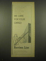 1966 Harrison Line Ad - For your cargo - $14.99