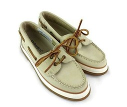 G H Bass Women Creme Leather Deck Boat Shoe Size 5.5 M Casual Dock - $19.74
