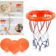 Bathroom Toddler Water Toys Bathtub Shooting Basketball Hoop Toy with 3 ... - $7.27