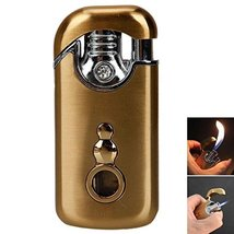 Yeahgoshopping Double Fire Windproof Refillable Butane Gas Cigarette Lighter, Go