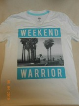 Old Navy kids size 8R  medium Tee shirt Top Weekend Warrior - $7.43
