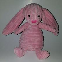 "Jellycat Pink Ribbed Bunny Rabbit Plush 9"" Bean Bag Stuffed Animal Toy L... - $17.77"