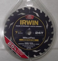 "Irwin 14035 7-1/4"" x 24 Tooth Welded Carbide Circular Saw Blade Italy - $12.87"