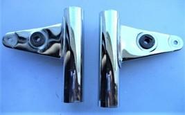 '82 83 GS300L Chrome Fork Covers Headlight Ears Brackets 1982 Suzuki - Vgc! - $35.74