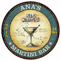 ANA'S Martini Bar Round Metal Sign Kitchen Bar Game Wall Décor R14101185 - €22,04 EUR+