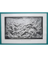 NUDE Human Passion Sculpture Relief Bodies Melee - VICTORIAN Era Engravi... - $21.60