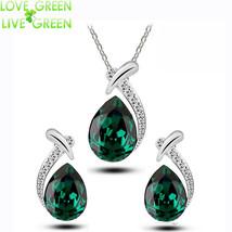 Jewelry Sets Water Tear pendant lace earrings - $11.99