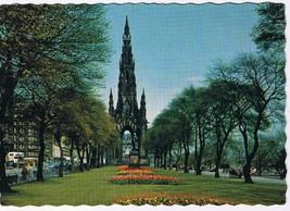 United Kingdom UK Postcard Edinburgh Sir Walter Scott Monument - $2.36