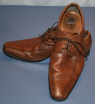 Clarks Collection Brown Shoes Sz 11 M Square Toe Casual Work Oxfords Mens - $32.00