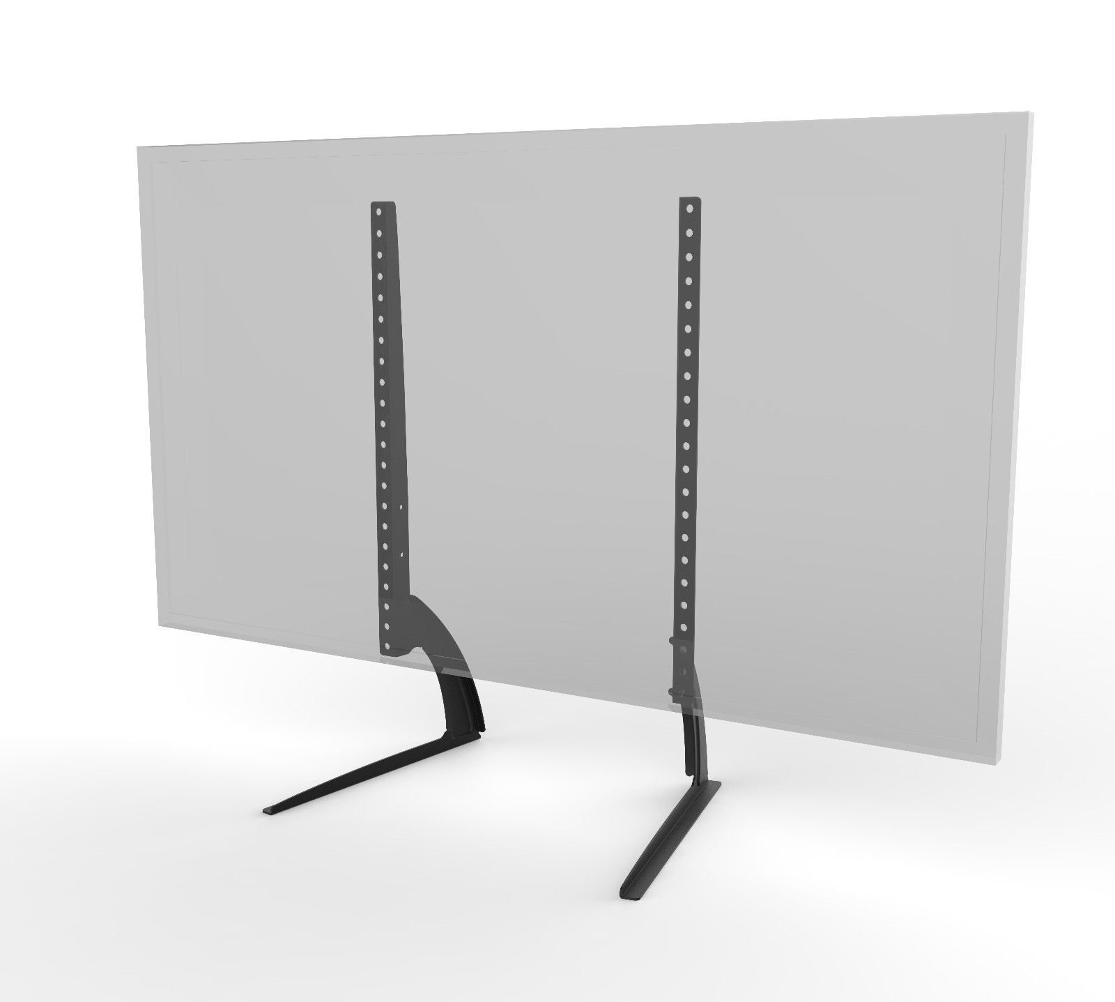 Universal Table Top TV Stand Legs for Vizio M65-C1 Height Adjustable