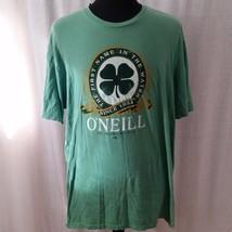 ONeill Mens 2x Slim Fit Green St Patricks Day Tee Shirt Irish Short Sleeve - $8.50
