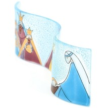 Fused Art Glass 3 King Christmas Nativity Wavy Sun Catcher Handmade Ecuador image 2