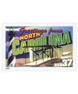 2002 37c Greetings from America, North Carolina Scott 3728 Mint F/VF NH - £1.61 GBP