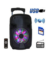 beFree Sound 8 Inch Bluetooth Portable Party Speaker with USB, SD and Re... - $76.40