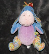 "DISNEY BABY STUFFED PLUSH SQUISHY EEYORE RED YELLOW ORANGE GREEN MANE 12""* - $44.54"
