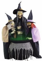 Stitch Witch Sisters Animated Prop 6ft Lifesize Halloween Haunted House ... - £165.25 GBP