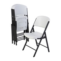 Pack of 4 Folding Chairs, White Wedding Events ... - $135.46