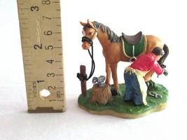 O'Well Christmas Village Figurine Resin Horse Farrier Ferrier Blacksmith... - $39.99