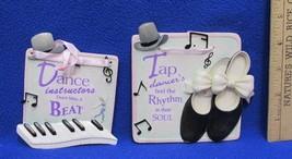 Enesco Its All About Dance Plaques 107995 Instructors & 108001 Tap Dance... - $16.82