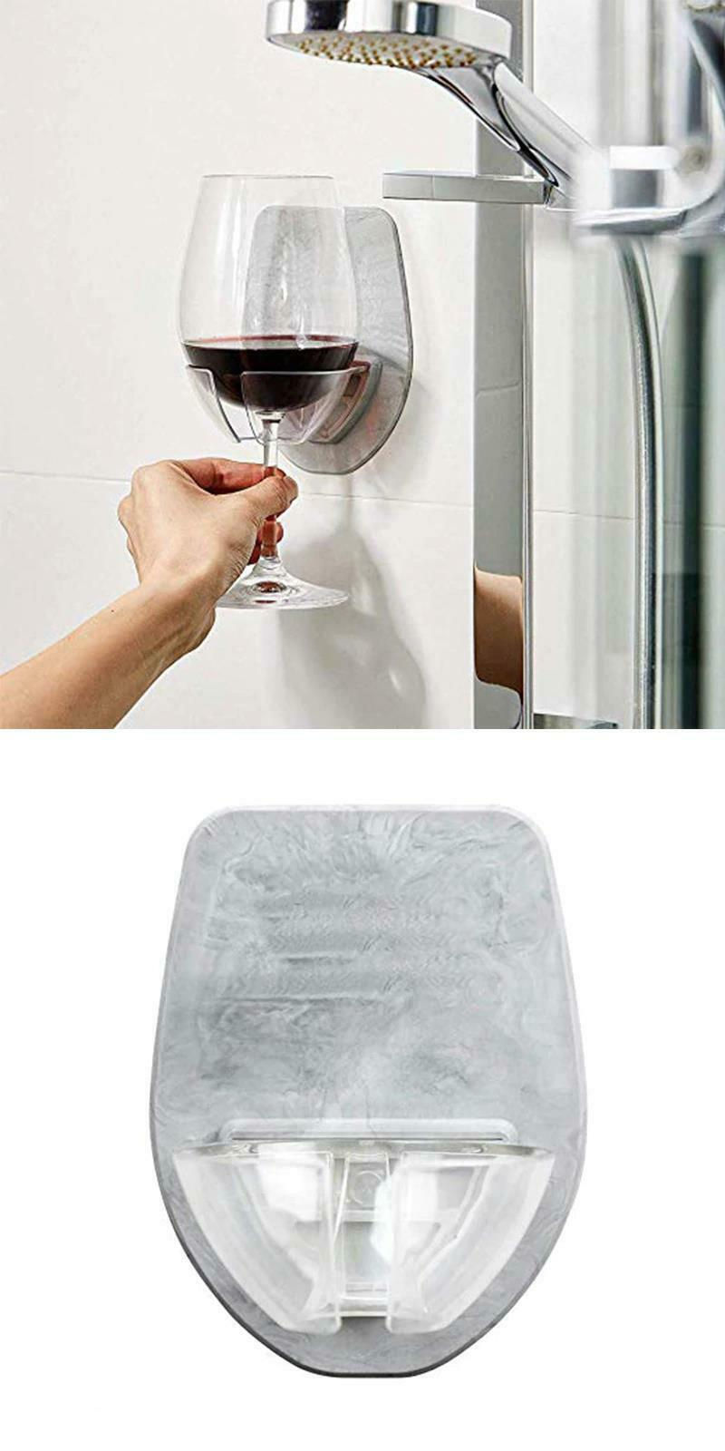 Bathtub Wine Glass Holder Portable Plastic Red Wine Bathroom Kitchen Household image 8