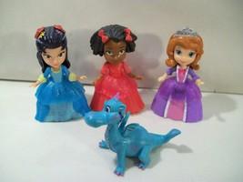 3 Disney Sofia The First Royal Doll Figures Sofia Ruby Lulu Crackle Dragon - $15.63
