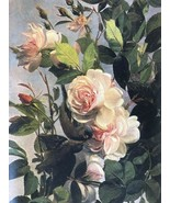 Art Print Roses Good Quality on Paper Rolled in Tube Inscribed on Back B... - $19.34