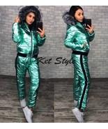 2 in 1 Winter Tracksuit Sport Suit Set Jacket Pants Trousers Glanznylon ... - $149.00