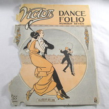 Antique Sheet Music Victor Dance Folio Cover Art Only No 7 Frameable US ... - $14.98