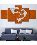 Clemson Tigers Wall Art Painting On Canvas Oil Print Poster 5 Piece Framed - $35.00+