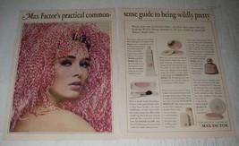 1966 Max Factor Ad - Sheer Geinus Make-Up, Pastel Glow, Crme Puff Make-up - $14.99