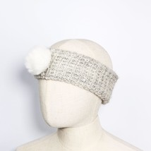 Gray with White Pom Pom Knitted Headband for Fall & Winter - $13.09