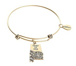 State of Alabama Charm Bangle Bracelet (gold-plated-base)