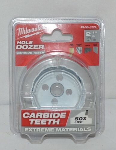 Milwaukee 49560724 Carbide Teeth Hole Dozer 2 One Quarter Inches
