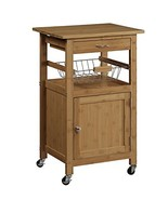 Organize It All Bamboo Kitchen Cart with Baskets - $77.06