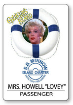 MRS HOWELL GILLIGANS ISLAND S.S. MINNOW NAME BADGE HALLOWEEN COSPLAY PIN... - $13.85
