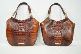 NWT Brahmin Marianna Leather Tote / Shoulder Bag in Pecan Melbourne image 11