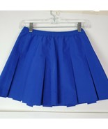 Vintage Lily's Of Beverly Hills Pleated Mini Tennis Golf Skirt Blue Athl... - $29.68