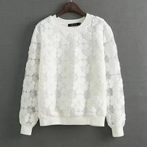 New 2017 Round Neck Hedging Sweatshirt Women Lace Hollow Out Female Hood... - $19.78+