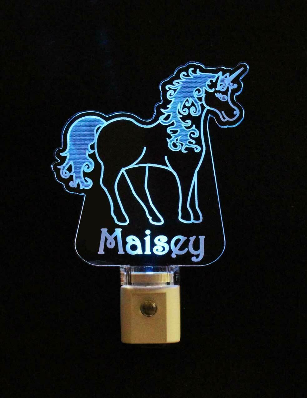 Personalized Unicorn Lamp Night light USB or Wall Plug In image 8