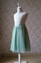 Sage Green Flower Girl Tutu Skirt Toddler Tutu Flower Girl Tulle Skirt(Age 1-14) image 2