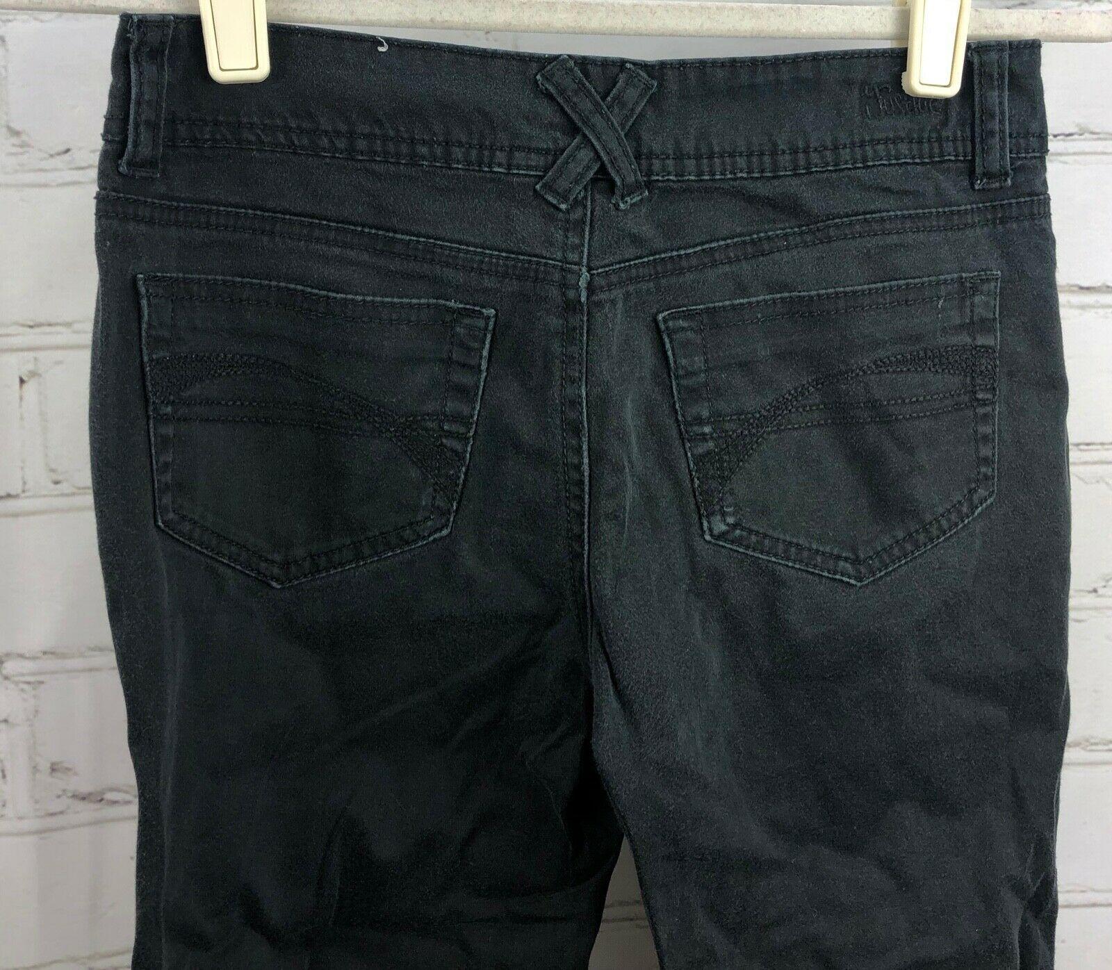 JUSTICE Beaded Stripe Top + Black Capri Pants Girls Size 12 Outfit Set image 7
